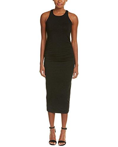 Michael Stars Women's Racerback Midi Dress, Black, L