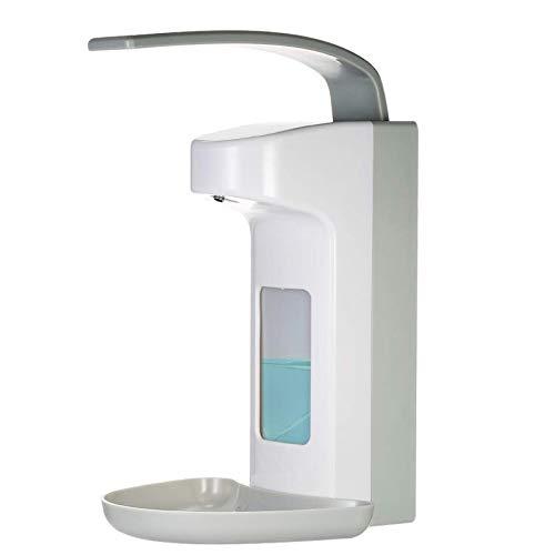 Dispensador de jabón manual FreeLeben para montaje en pared, dispensador de desinfectantes, bomba dosificadora de plástico para el hogar hospital hotel, Manual 1000 ml-a., 1000 ml