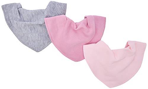 pippi Halstücher 3er Pack Baby Lätzchen Dreieckstücher Foulard Tour De Cou, Rose (Rose 510), Taille unique Mixte bébé