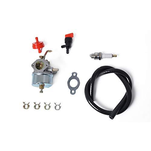 Kongqiabona-UK Carburador recortador de jardinería Carb con Combustible Carburador Tipo Flotador de línea de Combustible de 3 pies para Motores Tecumseh 632230 632272 H30 H50 H60 HH60