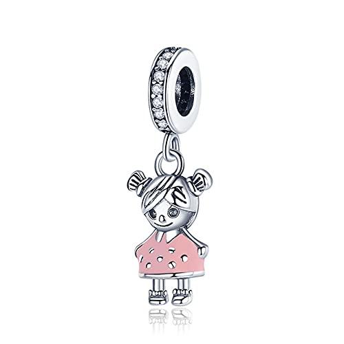 Silver Little Boy & amp;Charm de niña en forma de pulsera y brazalete original de 3 mm Fabricación de joyas de bricolaje de moda para mujeres, CMC543