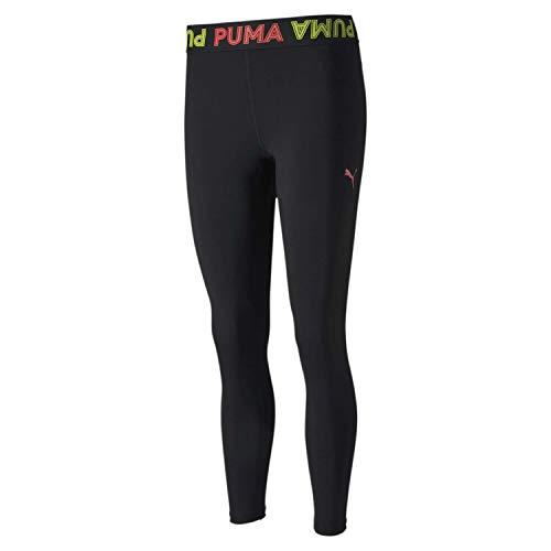 PUMA Damen Leggings Modern Sports Banded 7/8, Black/Bubblegum, XL, 581481