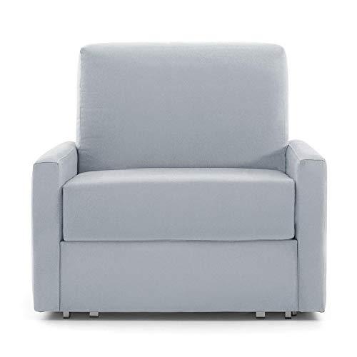 Vida de hogar - Sillón 1 Plaza Extensible ANTAX 92x82x49,5x99 cm Cerrado – 80x185 cm Abierto Cama - Color Gris