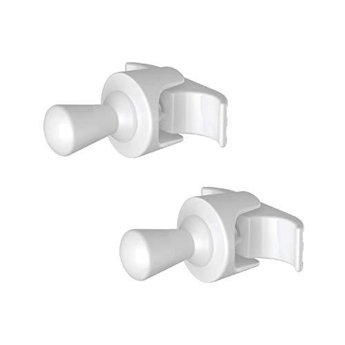 2 Handy Drop buisvormige - handdoekrekken voor meerkleurige buisvormige radiator - ze worden rechtstreeks op de buisvormige radiator bevestigd - wit