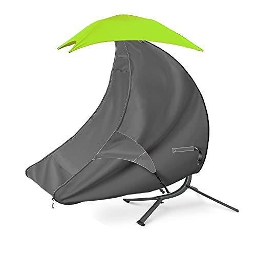 iKover Heavy Duty Waterproof 73 Inch Patio Hanging Chaise Lounge Cover(Grey)