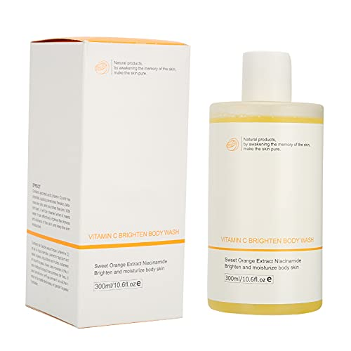 Gel de ducha de nicotinamida VC de 300 ml, limpieza suave, brillo, hidratante, gel de baño para la piel, nutrientes naturales