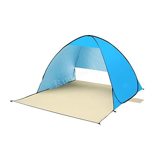 YXIUER UV-Schutz Strandzelt Camping Automischöffnung Sonne Shelter Strand Regenschirm Angelzelte Wasserdicht 190t Polyester (Color : Blue)