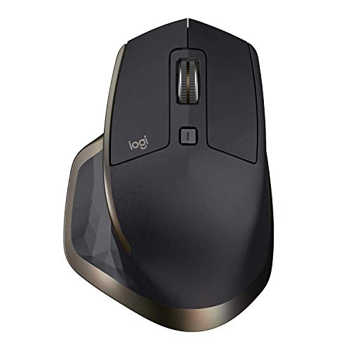 Logitech MX Master Wireless Mouse High-Precision Sensor, Speed-Adaptive Scroll Wheel, Easy-Switch up to 3 Devices - Meteorite (Renewed)