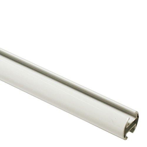 GARDINIA Gardinenstange, Metall-Rohr mit Innenläufen, Serie Chicago, Durchmesser 20 mm, Länge 160 cm, Weiß