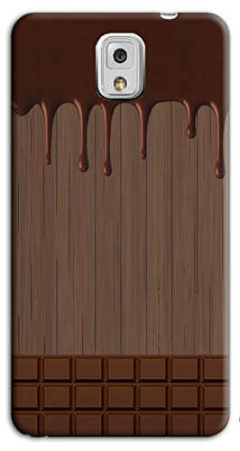 Mixroom - Cover Custodia Case in TPU Silicone Morbida per Samsung Galaxy Note 3 III N9005 M733 Tavoletta di Cioccolata Sciolta