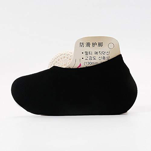 Calcetines de algodón para Mujer, Finos, Informales, Antideslizantes, Planos, de Corte bajo, línea de Barco, Calcetines de otoño (Negro)