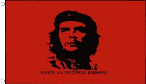 5 ft x 3 ft 150 x 90 cm)-Che Guevara - 100% Polyester-Matériau révolutionnaire Banderole de décoration idéal pour l'entraînement