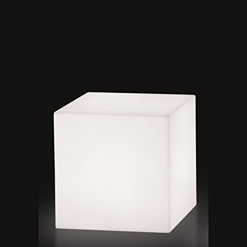 Slide Cube Lampe de Table, 20x20, Blanc