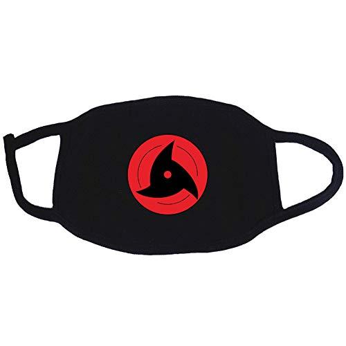 Bosi General Merchandise Naruto, Cosplay, Estampado Hip Hop, algodón Negro, Lavable, a Prueba de Polvo, máscaras Divertidas, Compre uno y llévese Otro Gratis