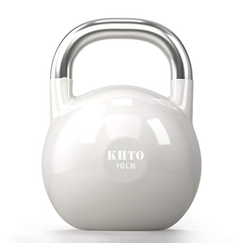 KHTO Kettle Bells – Competition Kettlebell 10 LB – Professional Grade Kettlebell for Fitness, Weightlifting Core Training – Durable and Strong Design – 10-50 LB Color-Coded Collection