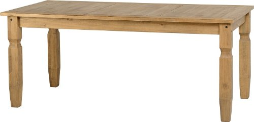 Seconique Corona 6 Feet Dining Table, Distressed Waxed Pine, 239.95x1669.95x104.95 cm