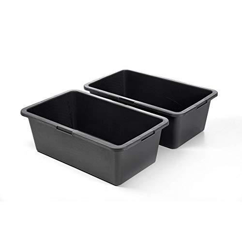 acerto Mörtelkübel Mörtelwanne in schwarz, 40 Liter, eckig, aus hochwertigem Kunststoff (2)