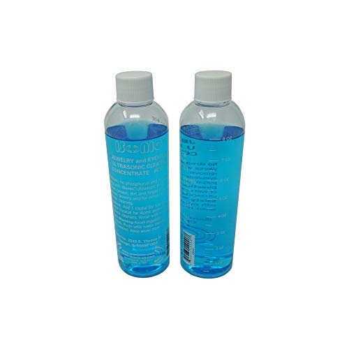iSonic CSGJ01-8OZx2 Ultrasonic Jewelry/Eye Wear Cleaning Solution Concentrate (Pack of 2)