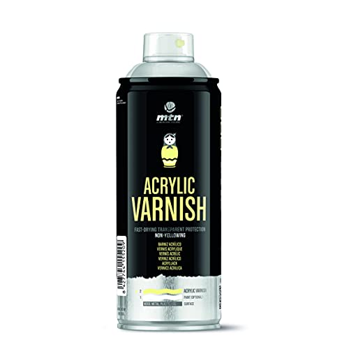 Montana Colors Barniz Acrílico - Brillante Spray, Transparente Brillo