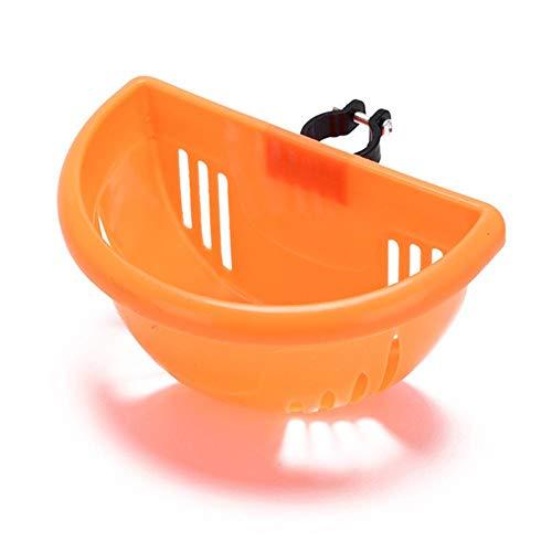 Piero Plastic Fietsmand Installatie Fietstas Scooter Handgreep Mand Beugel Fietsaccessoires, Oranje