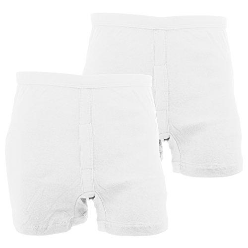 Floso - Calzoncillos Boxer Modelo Interlock Trunk 100% algodón Hombre Caballero (Pack de 2) (XL) (Blanco)