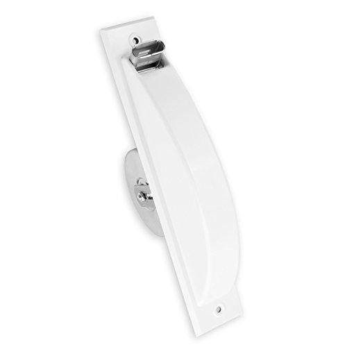 DIWARO® Halbeinlass-Gurtwickler | Lochabstand 262 mm | für 12 m Gurt | weiß