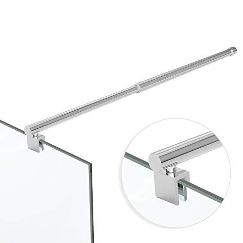 Stabilisator Glashalter Glaswand Haltestange Querstange Duschwand Wandhalter Edelstahl Chrome Verstellbar 70-120cm 6-10 mm Glas/ESG HS11