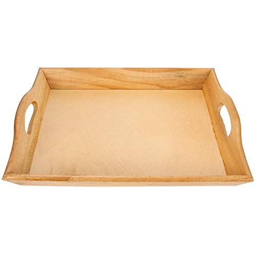 Cabilock Bandeja de madeira para servir, bandeja para lanches, pratos de mesa, porta-copos de madeira, tigelas decorativas para frutas, aperitivo, salada, café da manhã, sobremesa, churrasco, luz