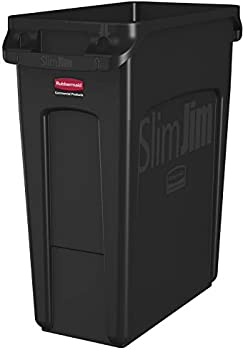 Rubbermaid Commercial Products 16 Gallon Rectangular Trash/Garbage Can