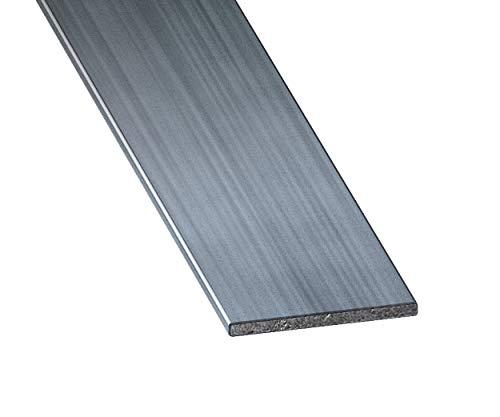 CQFD Plat acier étiré, gris, 30mm x 2mm x 1m