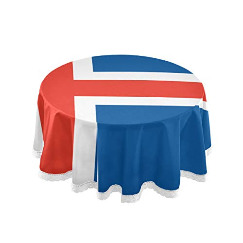 All3DPrint - Mantel Redondo Bandera Islandia, 150