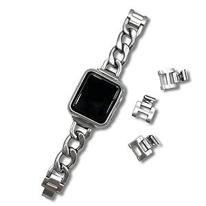 [YGGSTORE] Apple Watch アップルウォッチ 工具不要 セパレート マット チェーン バンド ベルト ステンレス ブレスレット 38mm 40mm 38ミリ 40ミリ 交換 互換 シルバー 銀 ゴールド ピンクゴールド ブラック 黒 金 2サイズ (42mm/44mm用, シルバー)