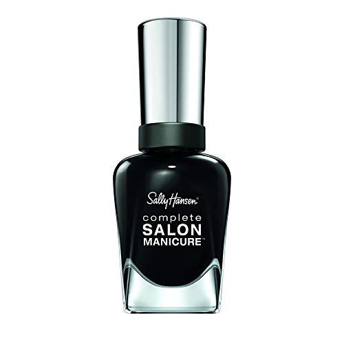 Sally Hansen Complete Salon Manicure Nagellak, 531 Dark Hue-mor/verzorgend, donkerblauw metallic, 15 g 700 Hooked On Onyx Hooked on Onyx