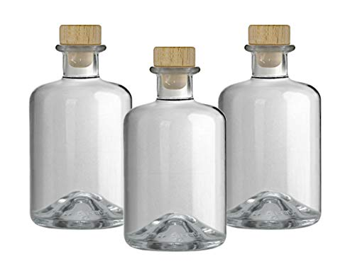 3x Apothekerflasche 350 ml Glas Flaschen leer Essigflaschen Ölflaschen Schnapsflaschen Likörflaschen zum selbst befüllen VERSAND INNERHALB 24 STD!