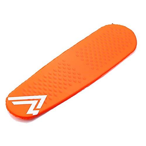 Zcqdl Autogonflant Sleeping Mat Camping Mat Matelas de Camp léger et Compact Tapis Gonflable Déroule Tapis Mousse lit de Tente (Color : Orange)