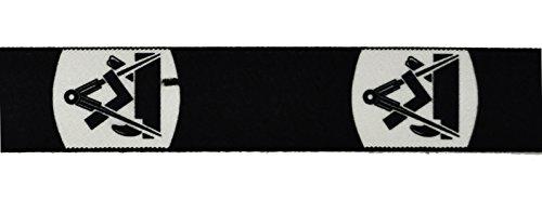 Eiko Hosenträger mit Zunftzeichen, 36 mm breit, Leder-Rückenteil (140 cm, Tischler)