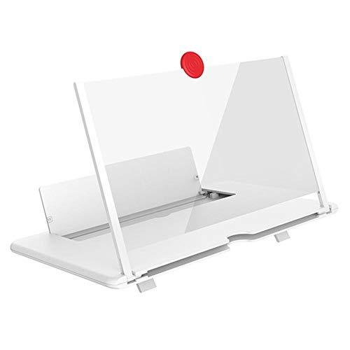 Monbedos 3D mobiele telefoonversterker, 3D-vergrootglas, 3D-vergrootglas, voor smartphones en merken, wit