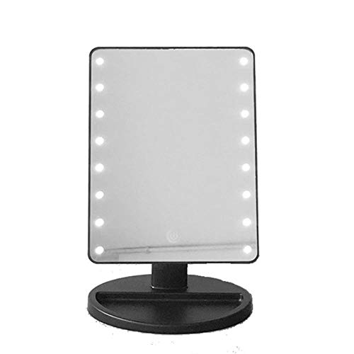Met niet-verblindende verlichting, hoogwaardige 16 lampen, 22 lampen, 36 lampen, bureau-LED make-upspiegel, usb-powered geheugen make-up spiegel kan worden aangeraakt.