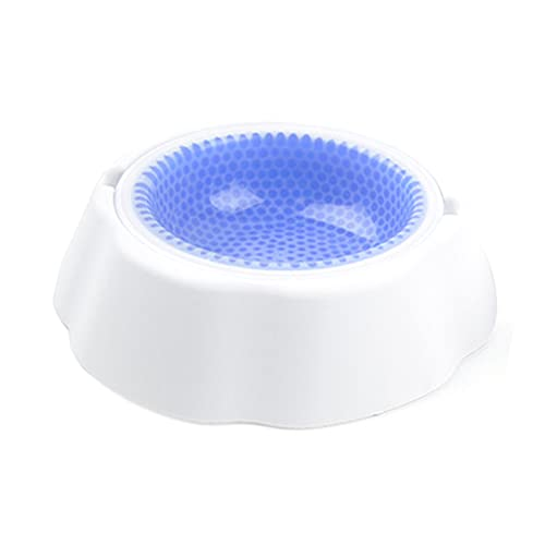 Pet Cooling Water Bowl Condensed Bead Ice Bowl, Dog Quick-cooling Bowl, Pet Cooling Bowl,Blue