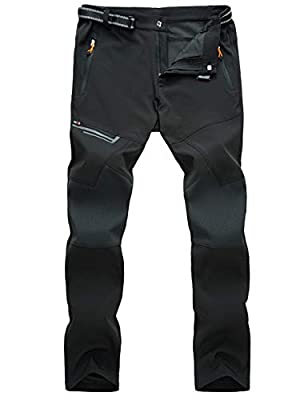 MAGCOMSEN Hiking Pants Mens Waterproof Pants Spring Summer Pants Camping Pants Multi Pockets Work Pants Cycling Pants Cargo Pants for Men with Belt
