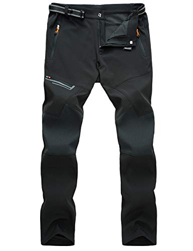 MAGCOMSEN Mens Work Pants Hiking Pants Mens Waterproof Pants Belted Fishing Pants Climbing Pants Waterproof Pants for Men