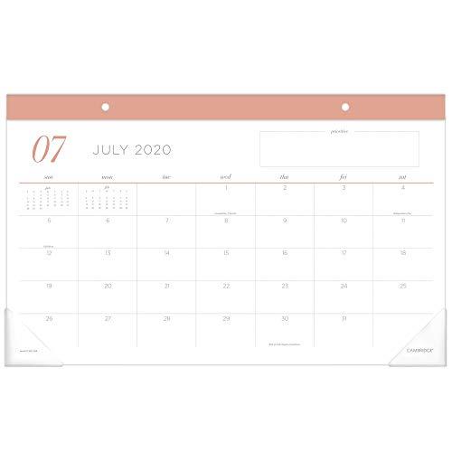 Akademischer Planer 2020-2021, At-A-Glance Wochen- und Monatsplaner Schreibtisch-Pad korallenrot