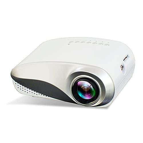 Kilcvt Proyector, Mini Proyector De Video, para Cine En Casa, Video, Proyector Led Portátil con Altavoces Integrados HD 1080p Compatibles con Hdmi, para Video, Película/Juego De Fiesta,Blanco