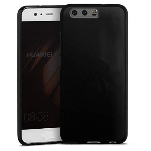 DeinDesign Silikon Hülle kompatibel mit Huawei P10 Case schwarz Handyhülle Sport Hobby Hockey