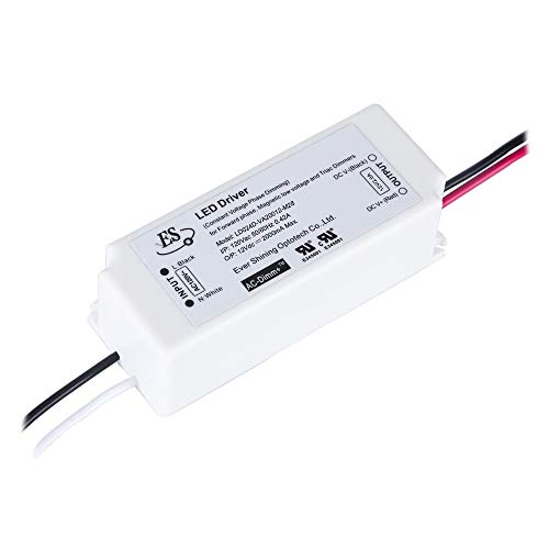 Dimmable LED Driver 12V 24W Triac Dimming LED Power Supply IP67 Waterproof, LED Transformer Dimmable, Constant Voltage Transformer,120V AC Line Dimming for LED Strip Light, Under Cabinet