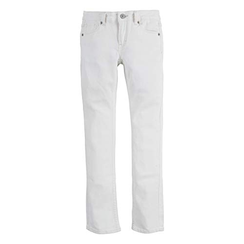 Levi's Girls' Big 711 Skinny Fit Jeans, White, 10