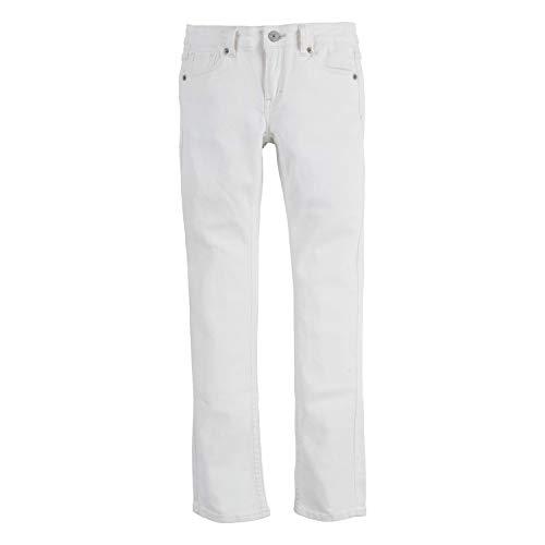 Levi's Girls' Big 711 Skinny Fit Jeans, White, 10