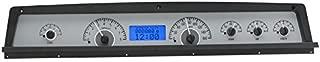 Dakota Digital 71 -76 Chevy Impala / Caprice Analog Dash System Kit Silver Alloy Blue VHX-71C-CAP-S-B