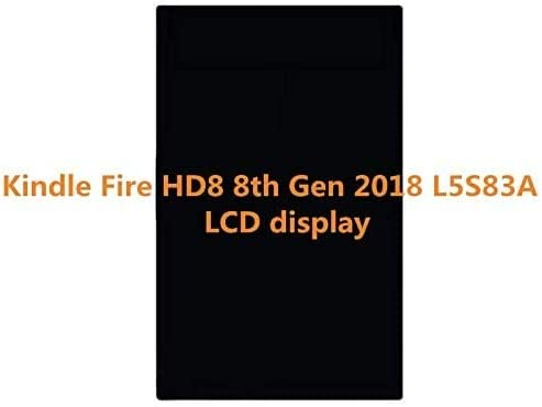 Dexiang for 8 Inch Amazon Kindle Fire HD8 HD 8 8th Gen 2018 L5S83A LCD Display Screen Without Touch Screen