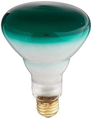 Bulbrite 75W BR30 Reflector 120V Wide Flood Light, Green